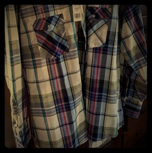 Vintage Pearl Snap with Tags Wrangler LS Shirt